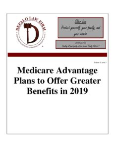 Medicare Advantage Plans to Offer Greater Benefits in 2019